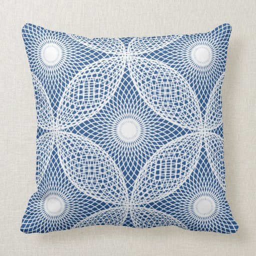 CHIC PILLOW_MODERN WHITE MESH GEOMETRIC PILLOWS Zazzle
