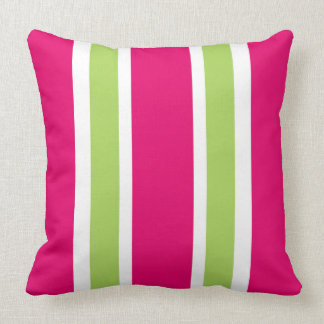 chic 561 hot pink60 green stripes throw pillow