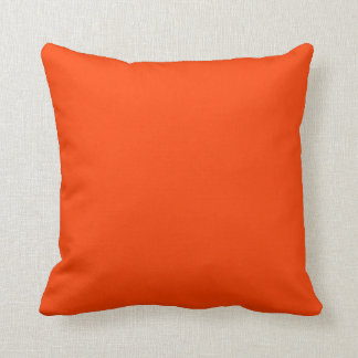 chic  pillow solids-tangerine/white
