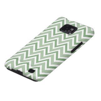 Chic pine green zigzag chevron pattern case galaxy SII cover