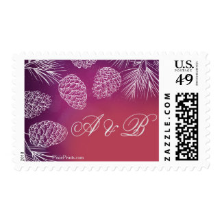 Chic Pine Postage Stamp