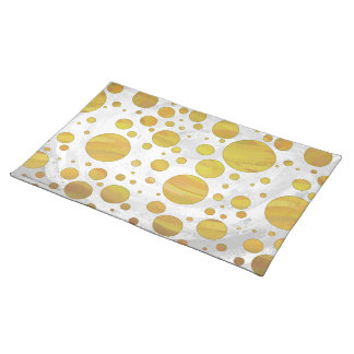 Chic Pineapple Polka Dots Cloth Place Mat
