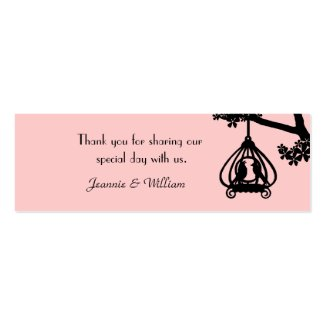 Chic Pink and Black Love Birds Gift Tags profilecard