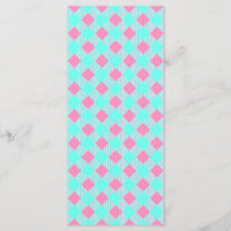 Chic Pink And Blue Trendy Check Pattern