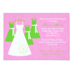 Chic Pink and Lime Bridal Shower Invitation