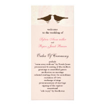 Chic pink bird cage, love birds wedding programs