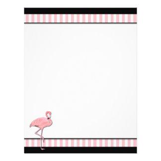 Chic Pink & Black Flamingo Business Letterhead