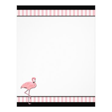Professional Business Chic Pink & Black Flamingo Business Letterhead