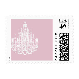 Chic Pink Chandelier Stamps