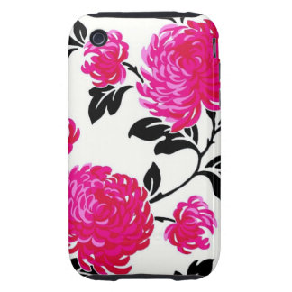 Chic Pink Damask Tough iPhone 3 Cases