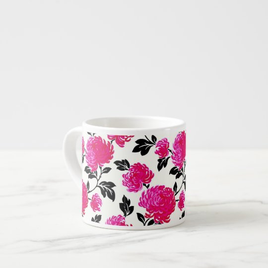 Chic Pink Damask Espresso Cup
