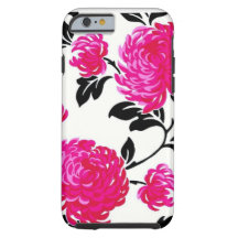 Chic Pink Damask iPhone 6 Case