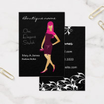 chic Pink fashion boutique Business Card