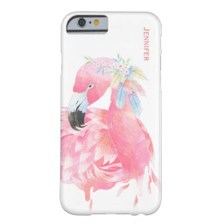 Chic Pink Flamingo Custom iPhone 6 Case