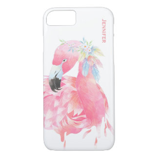 Chic Pink Flamingo Custom iPhone 7 Case