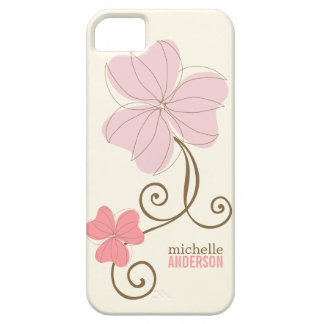 Chic Pink Florals iPhone 5 Cases