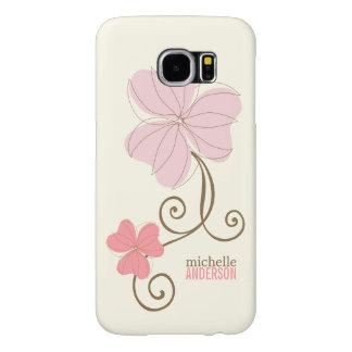 Chic Pink Florals Samsung Galaxy S6 Case