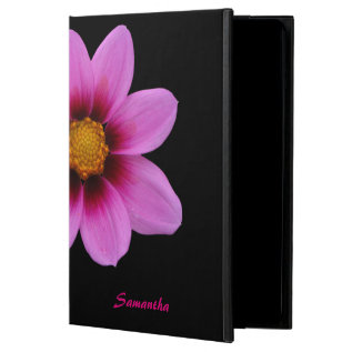 Chic Pink Flower Personalized Ipad Air 2 Case at Zazzle