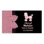 Chic Pink French Poodle Mommy Card