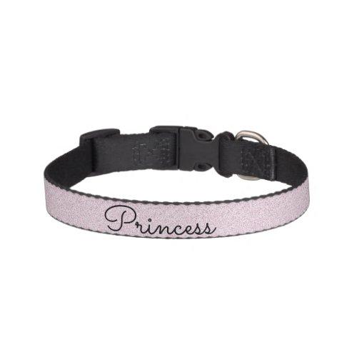Chic Pink Glitter Customized Cat Pet Collar