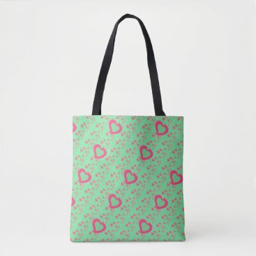 Beach Themed Chic Pink Hearts bag for beach or shopping