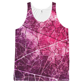 Chic Pink n Purple Crackle Lacquer Grunge Texture All-Over Print Tank Top