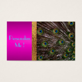 Chic Pink Peacock Trendy Girly / House-of-Grosch Business Card