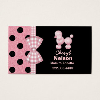 Chic Pink Poodle Mommy Card