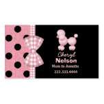Chic Pink Poodle Mommy Card Business Card
