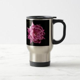 Chic Pink Rose Photo Travel Mug