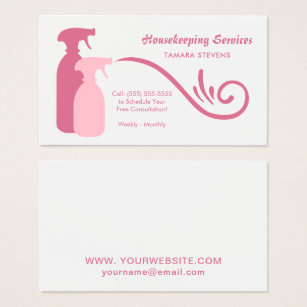 Housekeeping business card ideas vatozozdevelopment housekeeping business card ideas colourmoves