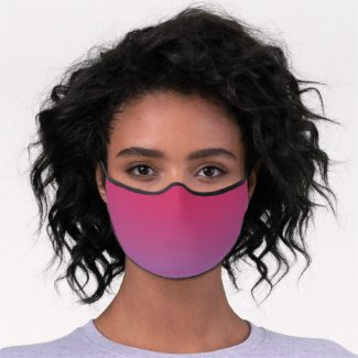 Chic Pink to Purple Gradient Premium Face Mask