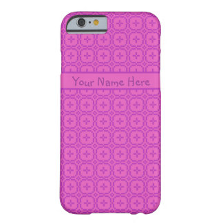 Chic Pink Traditional Faux Welsh Tapestry Pattern Barely There iPhone 6 Case