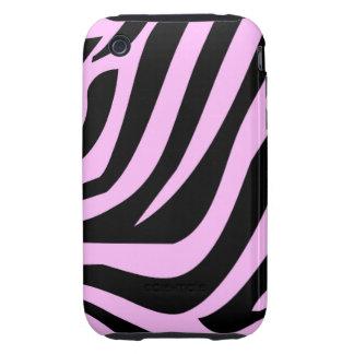 Chic Pink Zebra Print Tough iPhone 3 Covers
