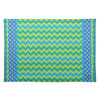 Chic Place Mat Mix'n'Match Chevrons and Polka Dots Cloth Placemat