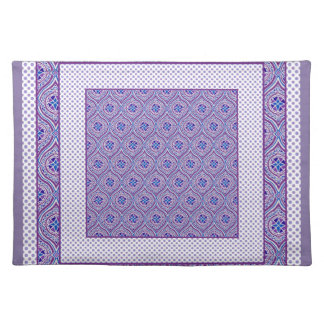 Chic Placemat: Mauve, White Ogees and Polkas Cloth Place Mat