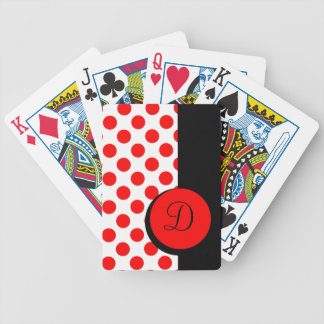 CHIC PLAYING CARDS_ 01 RED DOTS/BLACK STRIPE BICYCLE PLAYING CARDS