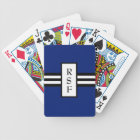 CHIC PLAYING CARDS_ 168 BLUE/BLACK /WHITE BICYCLE PLAYING CARDS