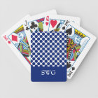 CHIC PLAYING CARDS_ 168 NAVY DOTS/WHITE BICYCLE PLAYING CARDS
