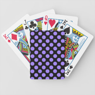 CHIC PLAYING CARDS_ 181 PURPLE DOTS /BLACK BICYCLE PLAYING CARDS