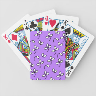 CHIC PLAYING CARDS_ 191 PURPLE/WHITE FLORAL BICYCLE PLAYING CARDS