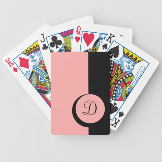 CHIC PLAYING CARDS_  2104 PINK /BLACK BICYCLE PLAYING CARDS