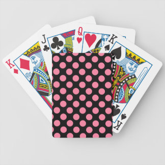 CHIC PLAYING CARDS_ 241 PINK DOTS /BLACK BICYCLE PLAYING CARDS