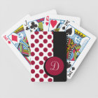 CHIC PLAYING CARDS_ 246 RED DOTS/BLACK STRIPE BICYCLE PLAYING CARDS