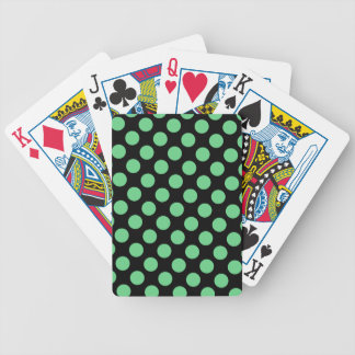 CHIC PLAYING CARDS_ 62 MINT DOTS /BLACK BICYCLE PLAYING CARDS