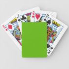 CHIC PLAYING CARDS_ 74 GREEN SOLID BICYCLE PLAYING CARDS