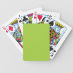 CHIC PLAYING CARDS_ 90 GREEN SOLID BICYCLE PLAYING CARDS