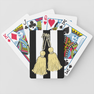 CHIC PLAYING CARDS_BUTTER TASSELS/BLACK-WHITE BICYCLE PLAYING CARDS