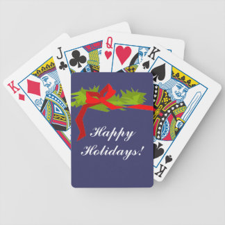 """CHIC PLAYING CARDS_CHRISTMAS_""""Happy Holidays!"""" Bicycle Playing Cards"""