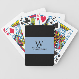CHIC PLAYING CARDS_FRENCH BLUE/BLACK STRIPES. DIYS BICYCLE PLAYING CARDS